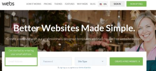 Webs.com-The Most Popular Website Builders