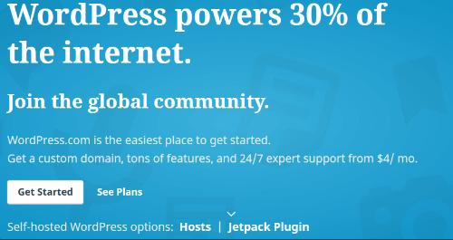 WordPress.com -The Most Popular Website Builders