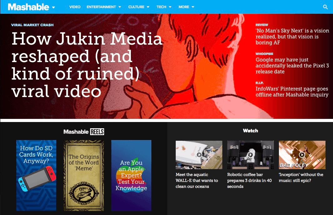 The 12 Best Tech Blogs: Mashable