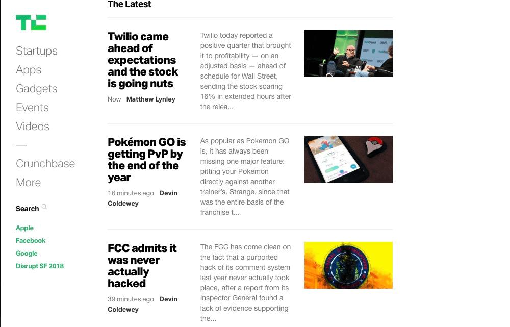 The 12 Best Tech Blogs: TechCrunch