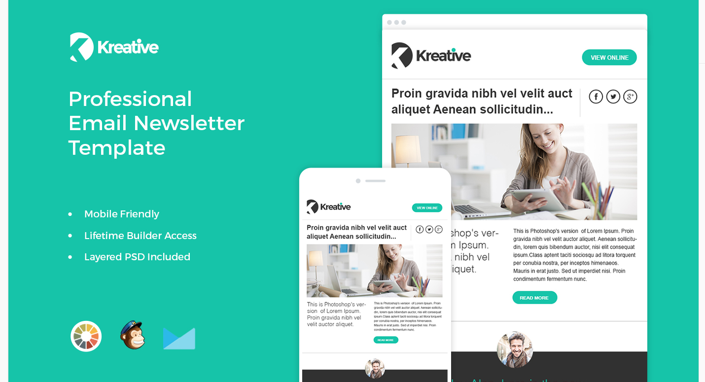 The Best Free MailChimp Templates for Bloggers - Kreative