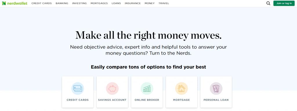 Nerdwallet money site